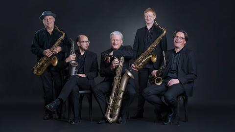 Die Saxophon-Gruppe der hr-Bigband