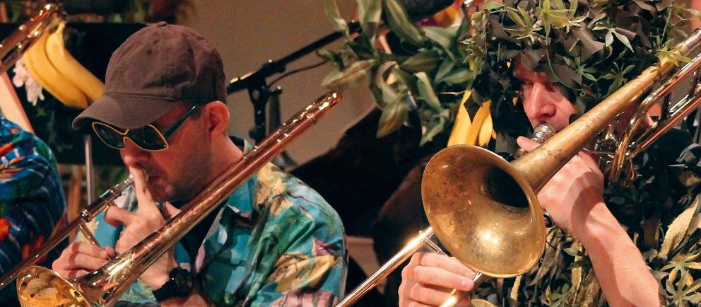 Verkleidete Musiker
