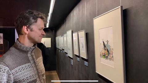 Martin Scales in der Volker-Kriegel-Ausstellung
