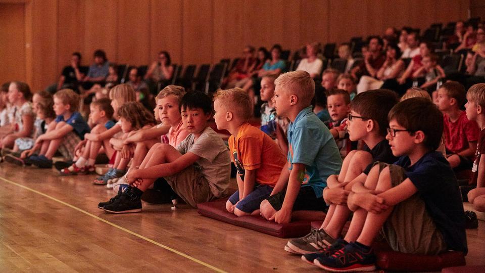 Kinder im hr-Sendesaal