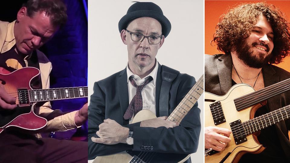 Collage drei Gitarristen