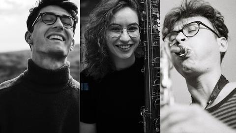 Porträts von drei Musiker*innen